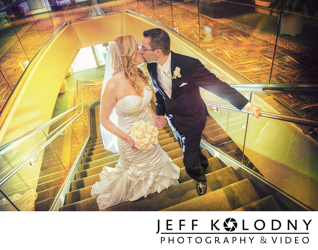 Wedding Kiss at the Diplomat Hotel