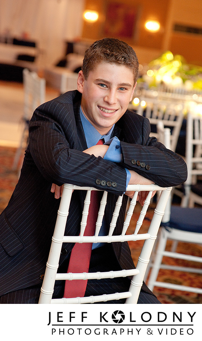 Portrait taken at a Bar Mitzvah