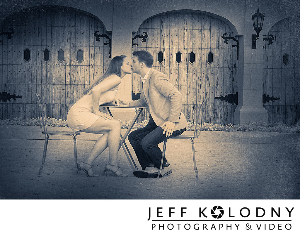 Kissy Kiss at a Palm Beach Engagement session