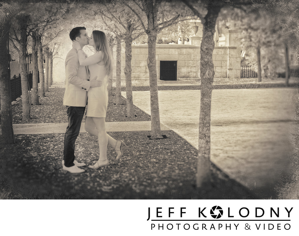 Creative infrared engagement photo taken in Palm Beach.