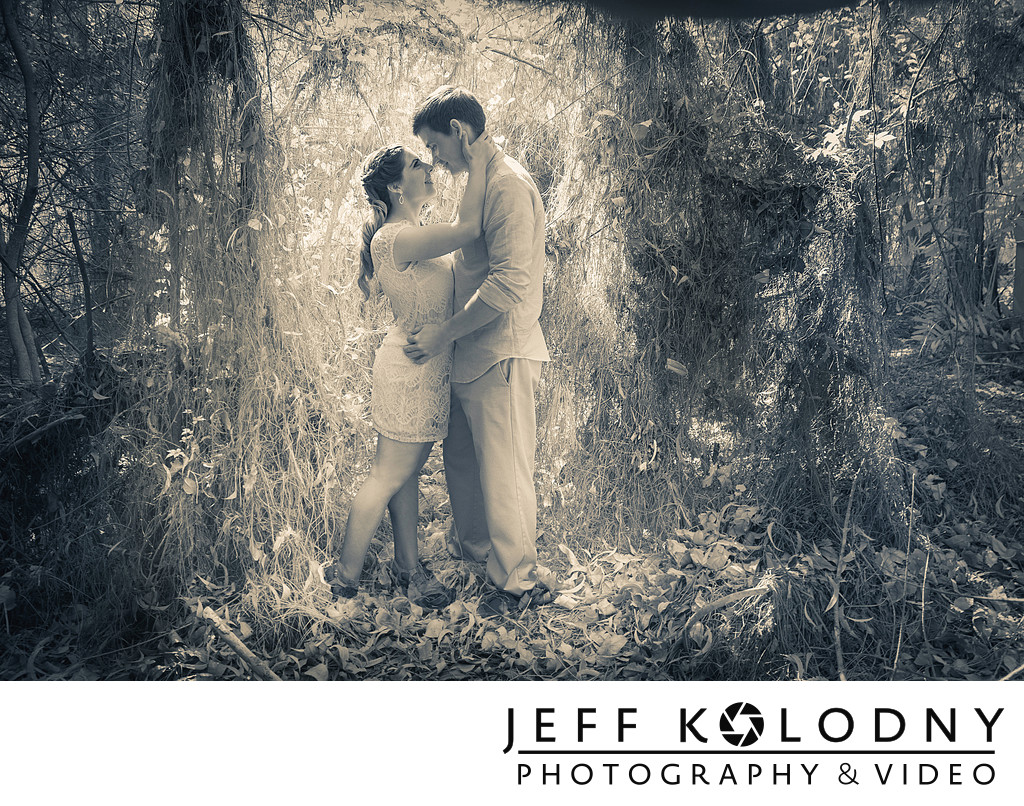 Morikami Gardens creative engagement photography.