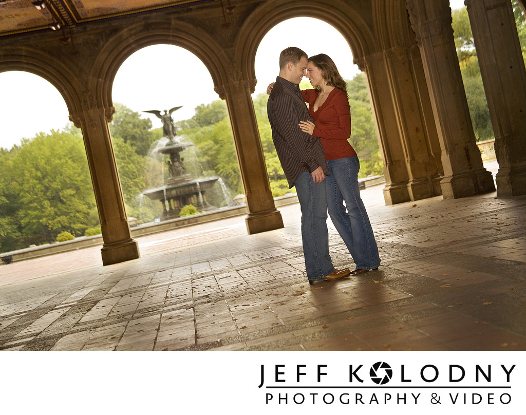 Engagement photo taken in Central Park, NY