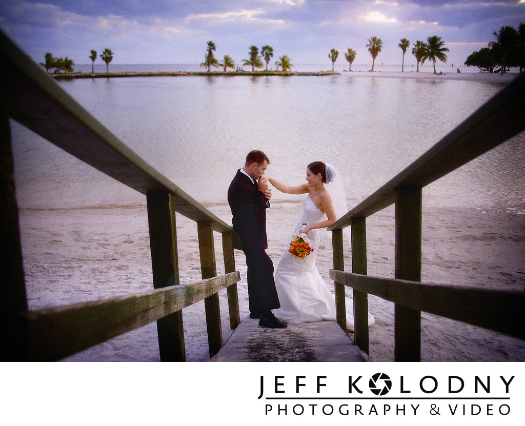 Miami Beach bride and groom
