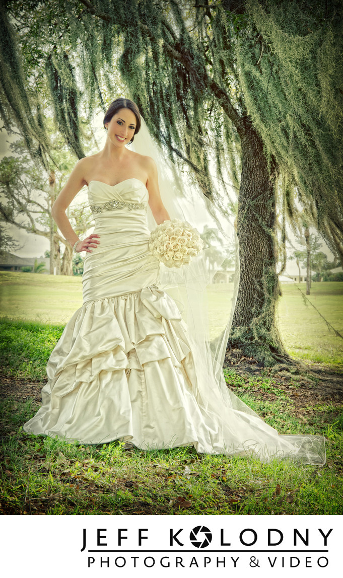 Boca Raton Country Club Bridal Portrait