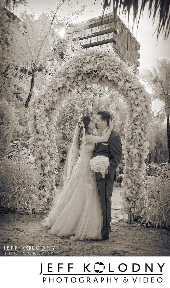 Infrared Wedding Picture taken at The Palms Hotel