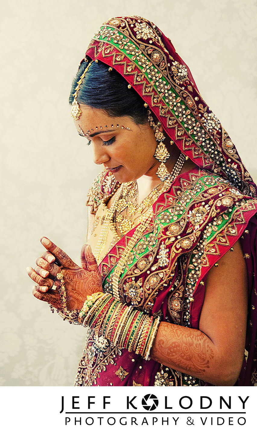 Indian bridal portrait taken in Palm Beach