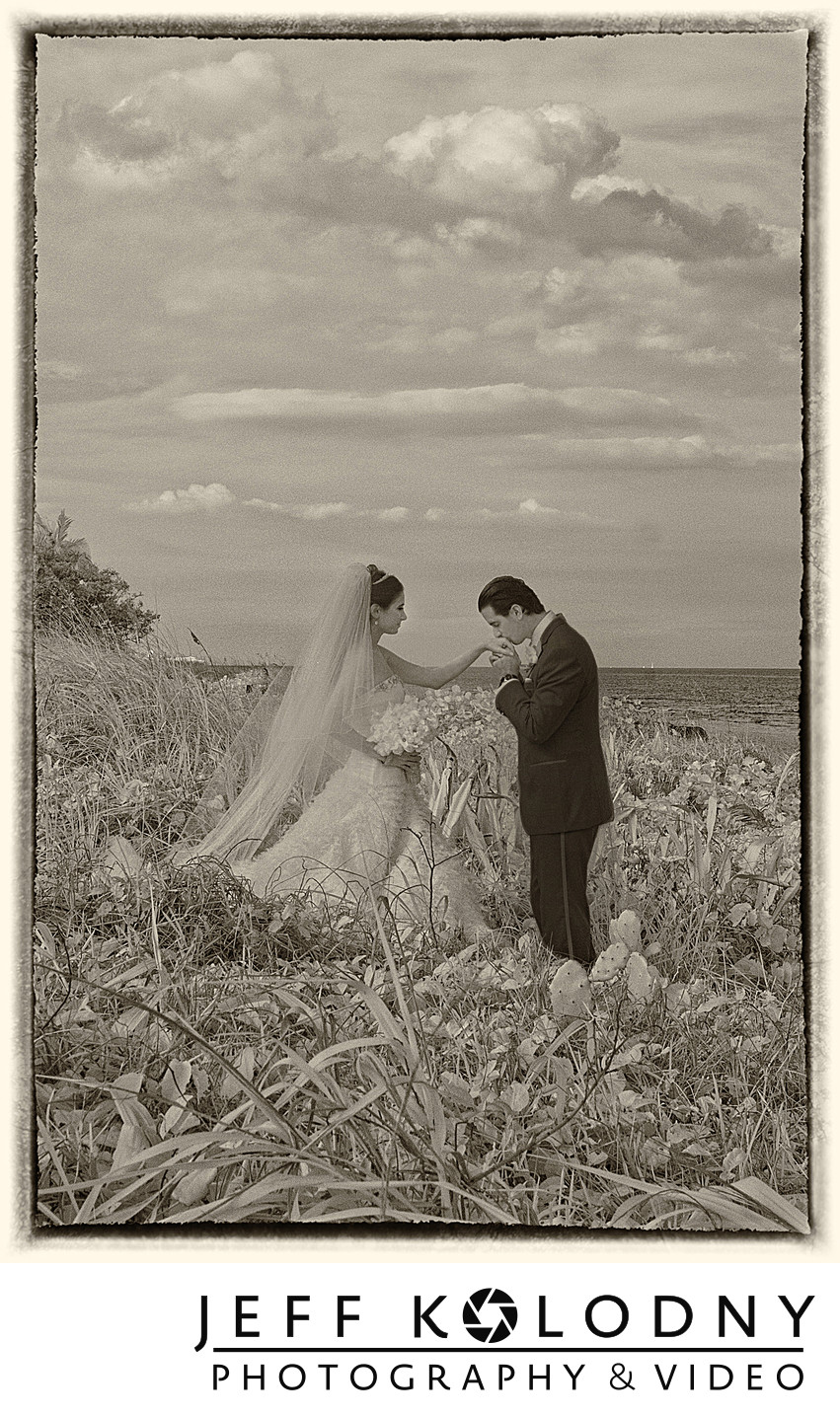 Palm Beach wedding picture
