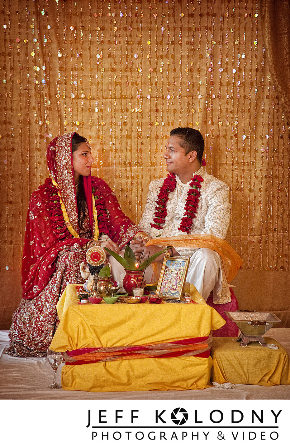 Ceremony picture from an Indian wedding.