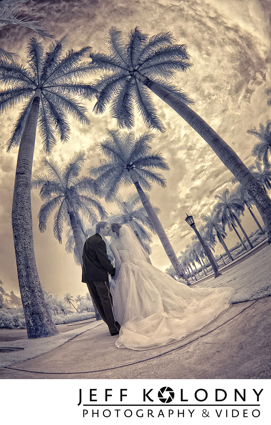 Bride and Groom at their Breakers wedding, Palm Beach.