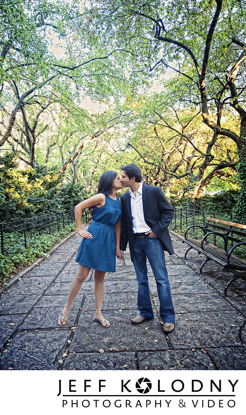 New York City engagement photography.