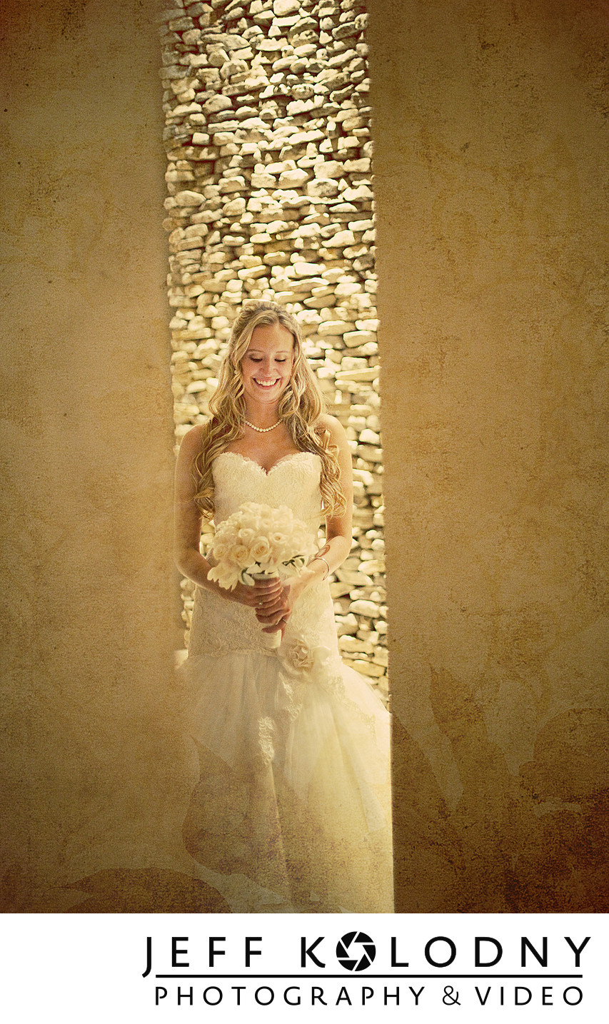 Creative bride photo taken at Turnberry Isles.