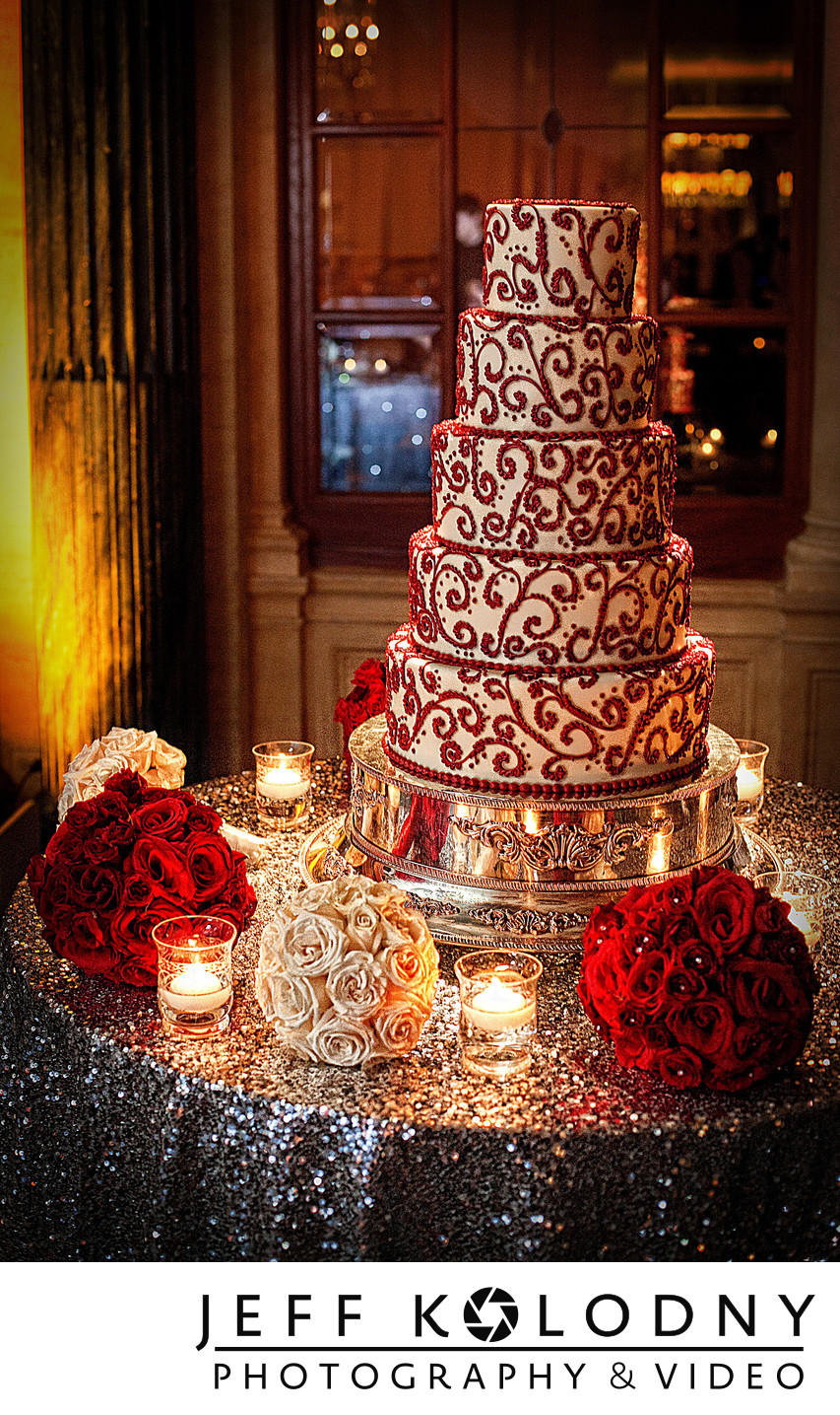 Wedding cake photo taken at The Breakers, Palm Beach.