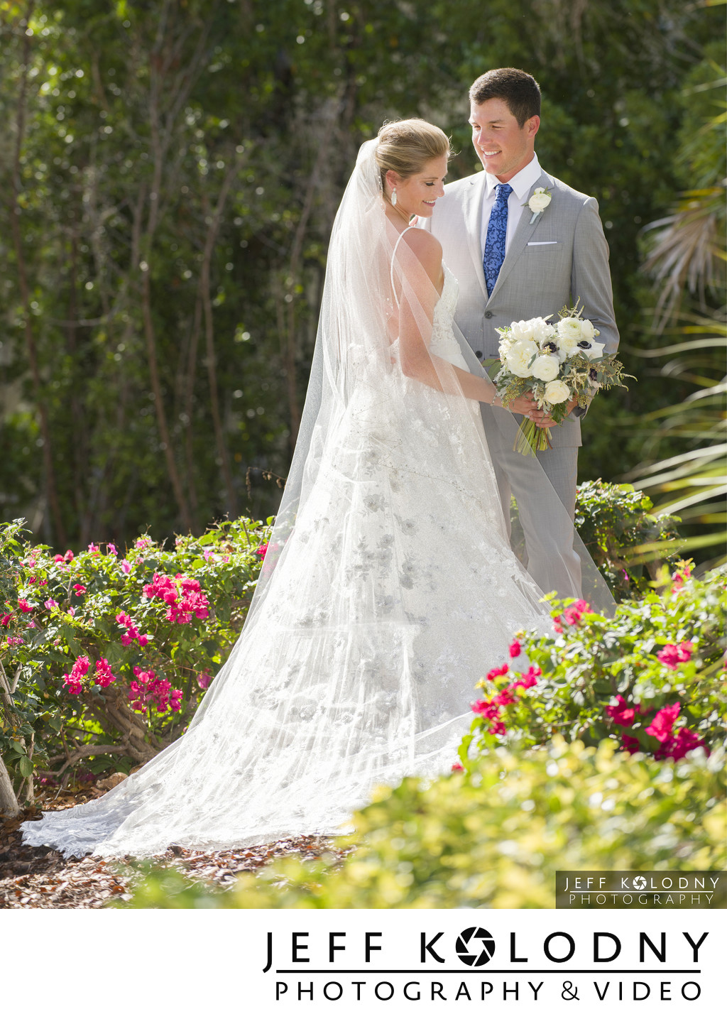 Bride and Groom from an Awesome Ocean Reef Club Wedding.
