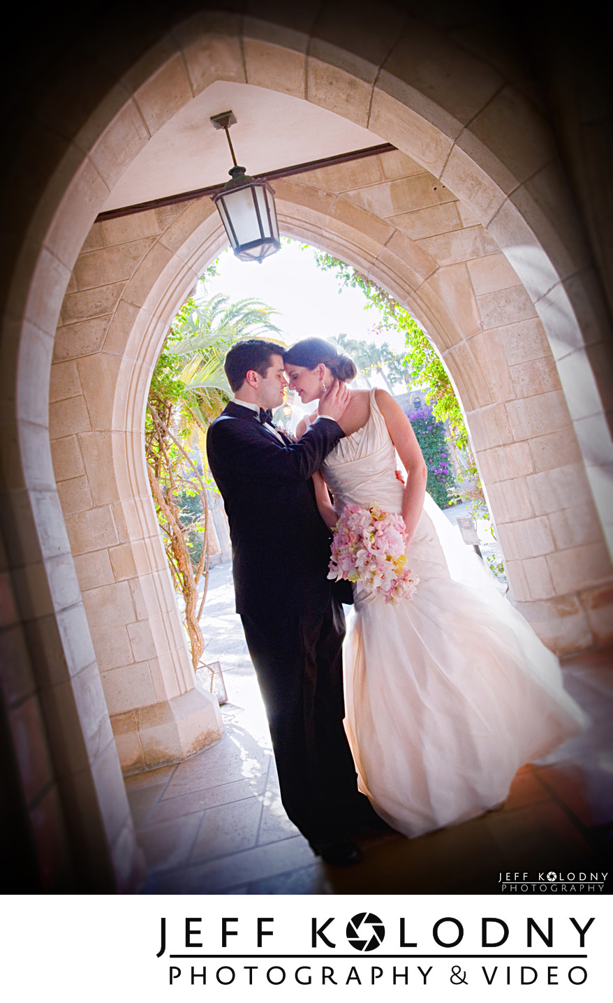Bride and Groom at Bethesda by the sea, Palm Beach.