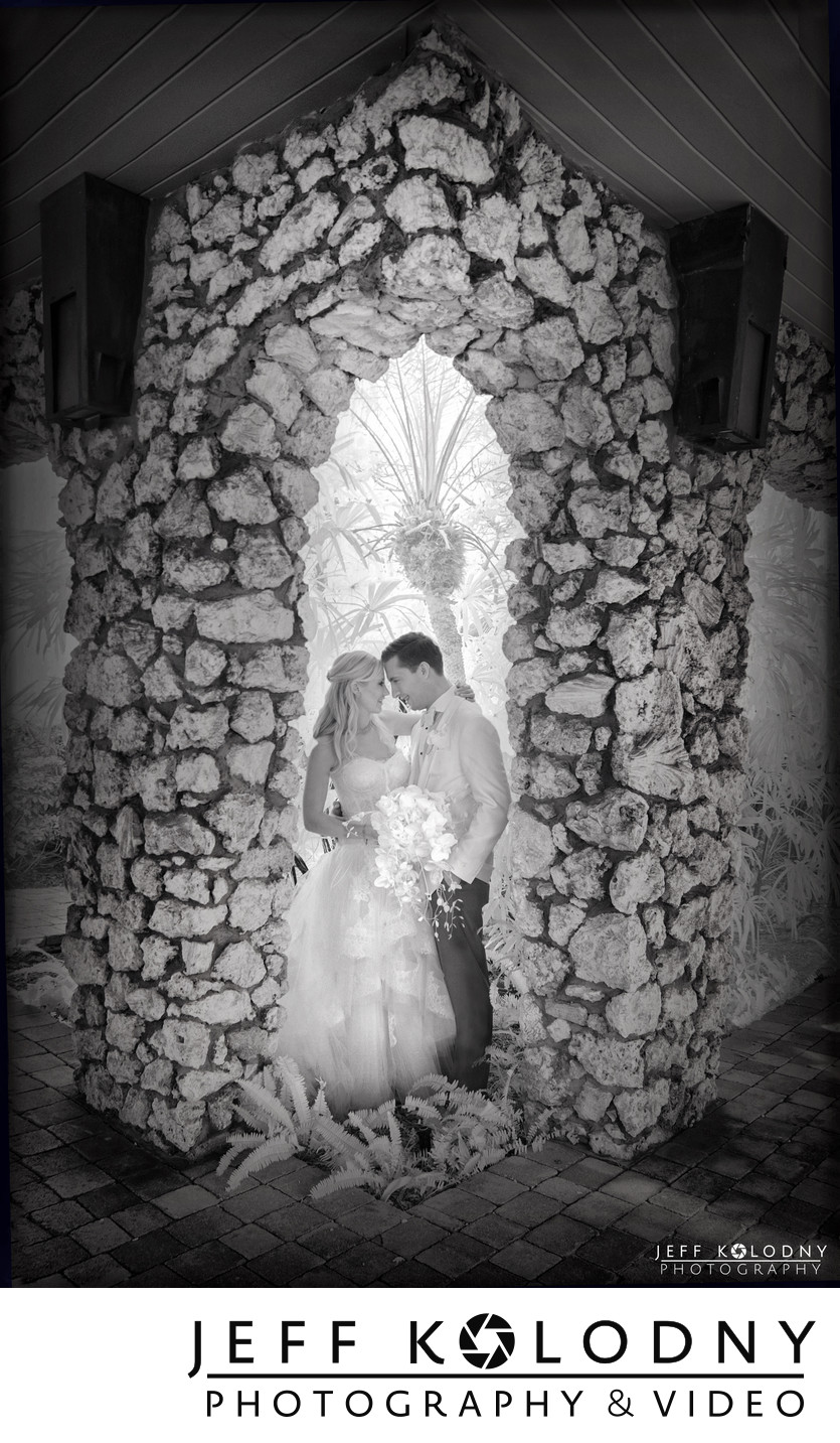Ocean Reef Club infrared wedding photo.