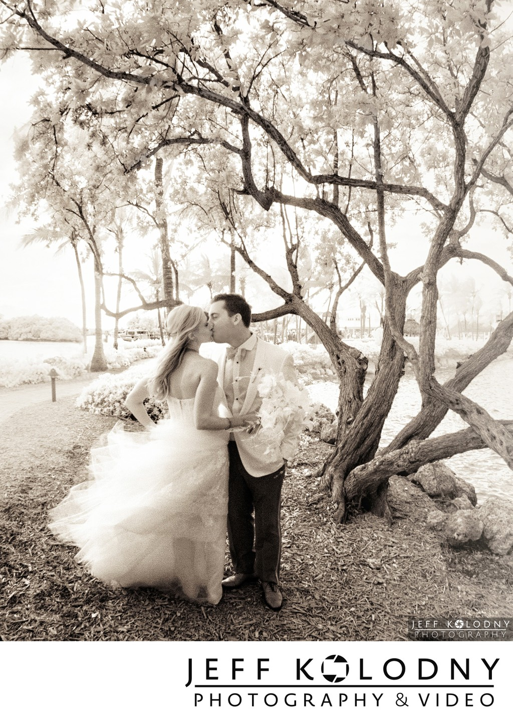 Ocean Reef Club Infrared wedding picture