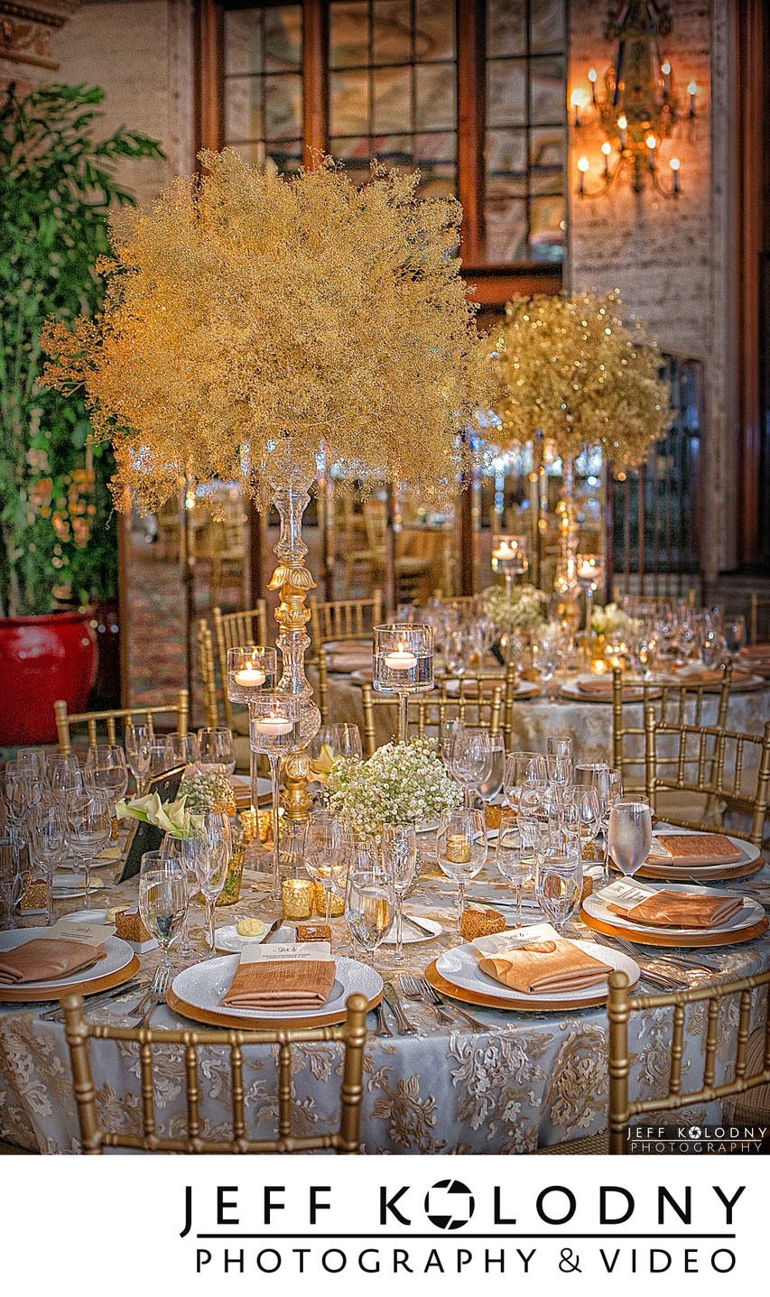 Breakers Circle Room Wedding Decor