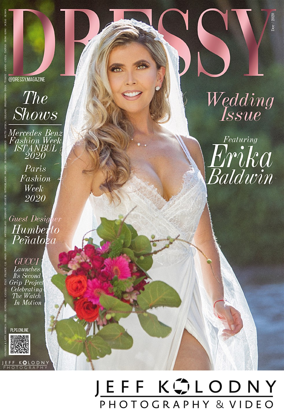 Magazine cover from a South Florida wedding.