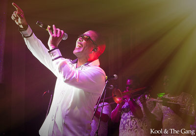 Rocking out with Kool and the Gang.