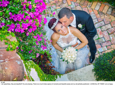 Bridal Portrait of Bride and Groom at La Jolla Ballroom in Coral Gables FL