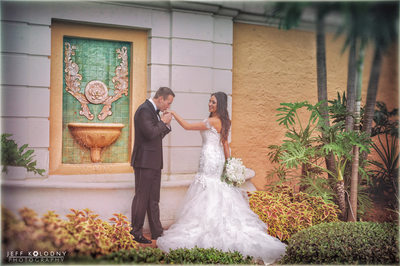 Bride and Groom Married in Coral Gables