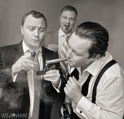 Guys Smoken Cigars at a South Florida Wedding