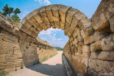 Archway into the Olympia Stadium, Greece