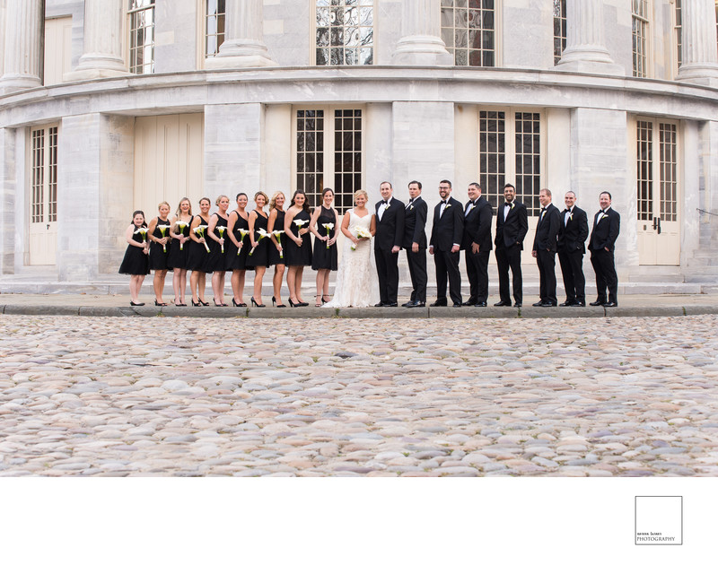 Bridal Party Photo Merchants Exchange Building