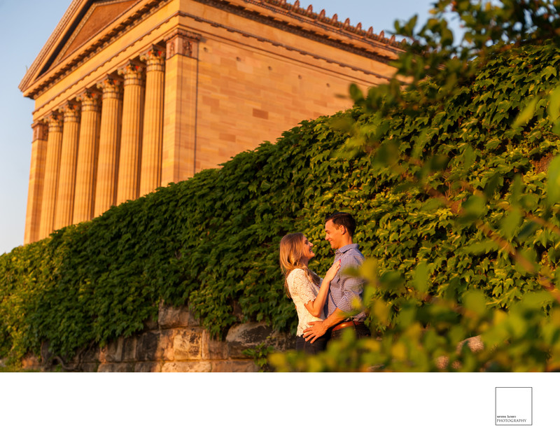 Philadelphia Art Museum Engagement Photography