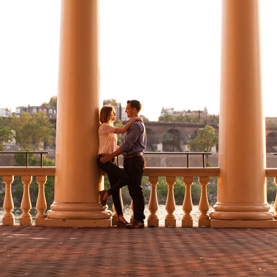 Philadelphia Engagement Photography at the Waterworks