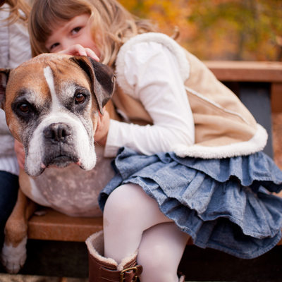 Fall Family Portraits and their Beloved Pup