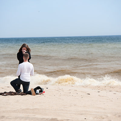 Romantic Belmar Beach Proposal