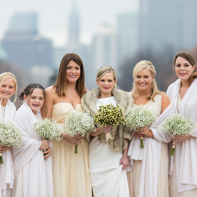 Bridal Party of Philadelphia Museum of Art