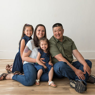 Family studio portraits in South Jersey