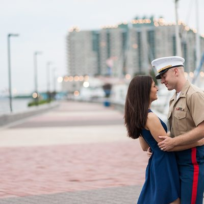 Engagement photography Penn's Landing