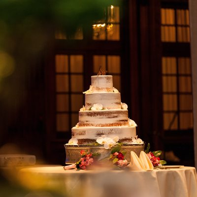 Finley Catering wedding cake at Crystal Tea Room
