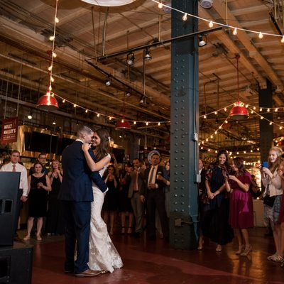 First dance at Reading Terminal Market Wedding