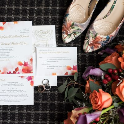 Bridal details for Reading Terminal Market wedding