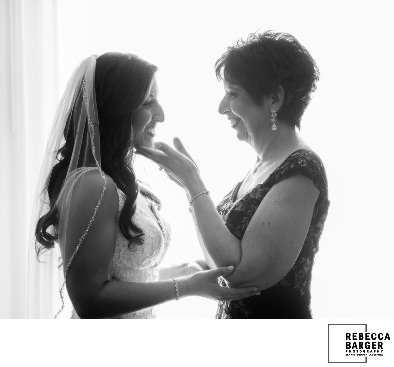Mother and Daughter on her wedding day.