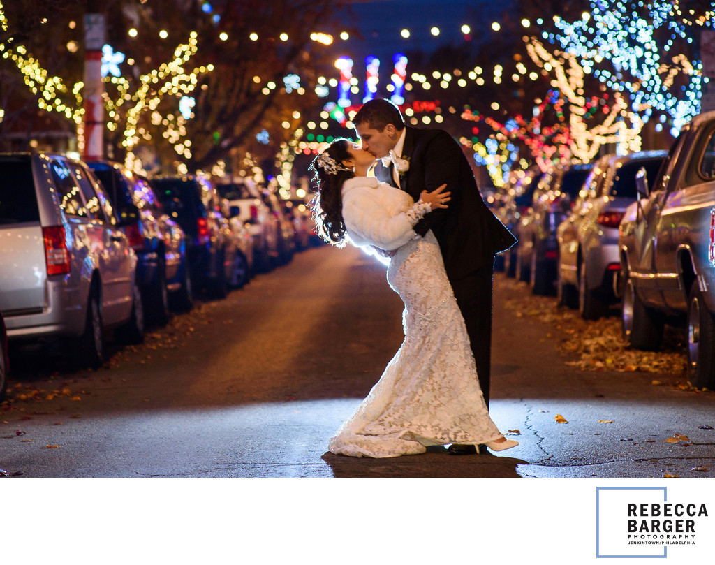 Christmastime wedding in south philadelphia.