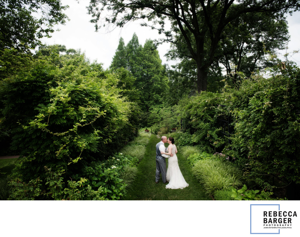 Morris Arboretum Wedding Photogapher