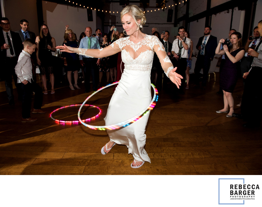Hula Hoop Fun Philly Bride