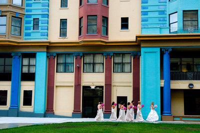 Atlantic City brides at NJ shore location.