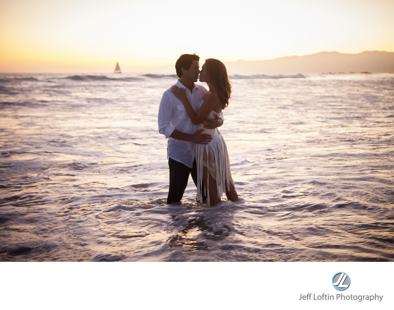 romantic engagement in Santa Monica