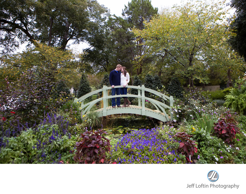dallas arboretum engagement picture