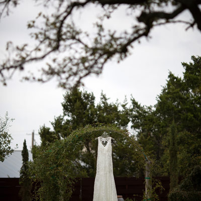 wedding dress photo dripping springs