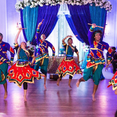 Indian dance troupe wedding