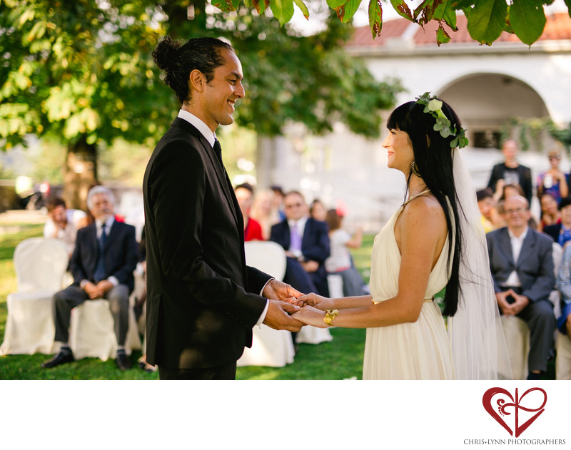 Dvorec Zemono Vineyard Wedding Ceremony Photo