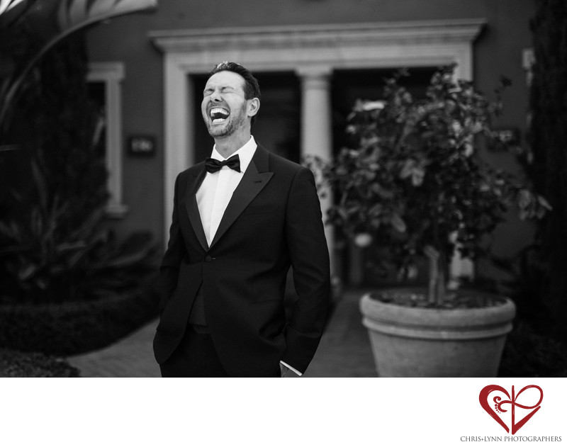Pelican Hill Wedding Photography, Groom Portrait