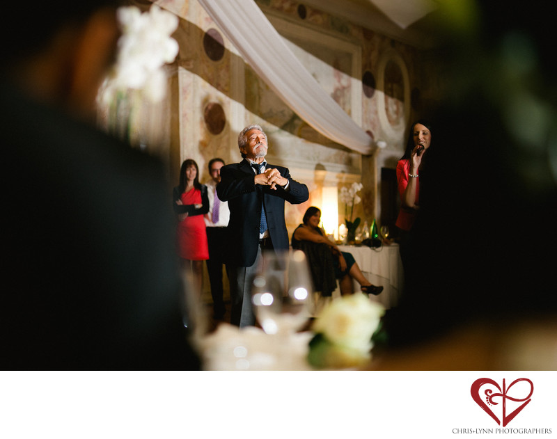 Dvorec Zemono Vineyard Wedding Reception, Speech Photo